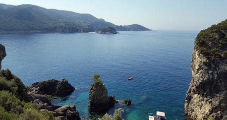 Amazing beautiful bay in Paleokastritsa, Corfu island, Greece