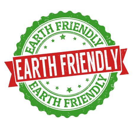 Terra segno o timbro su sfondo bianco, illustrazione vettoriale