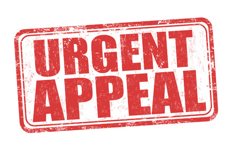 Urgent appeal grunge rubber stamp on white background, vector illustration Reklamní fotografie - 83874818