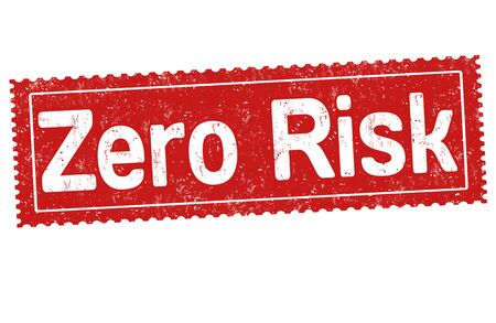 cautions: Zero risk grunge rubber stamp on white background, vector illustratio