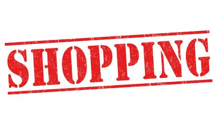 supermarket: Shopping grunge rubber stamp Illustration