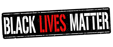 Black lives matter grunge rubber stamp on white background, vector illustration