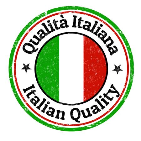 Timbro di gomma italiana di qualità grunge su sfondo bianco, illustrazione vettoriale Archivio Fotografico - 85029730