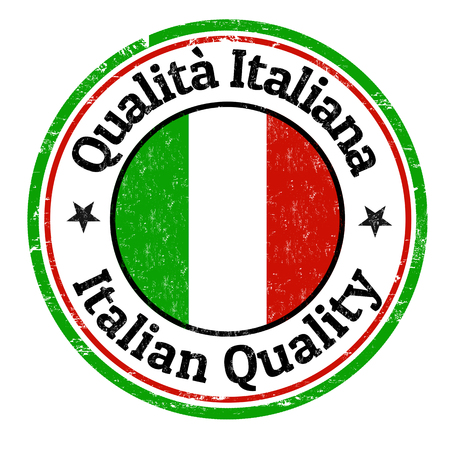 Włoski pieczątka jakości grunge na białym tle, ilustracji wektorowych