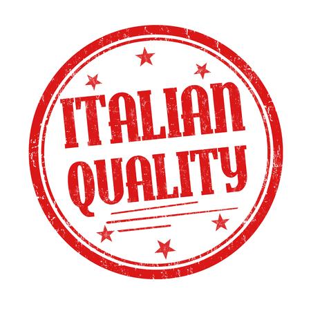 Italiaanse kwaliteits grunge rubberzegel op witte achtergrond, vectorillustratie Stock Illustratie
