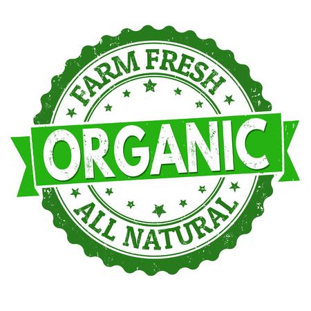 Organic grunge rubber stamp on white background, vector illustration Illustration