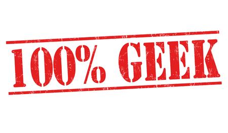 Geek grunge rubber stamp on white background, vector illustration.