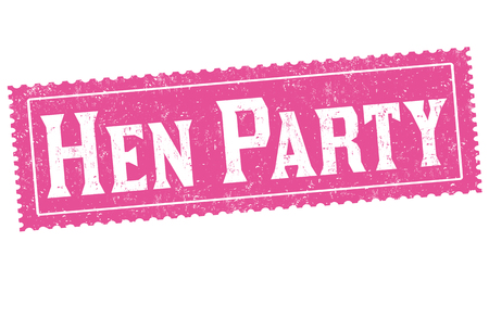 clubber: Hen party grunge rubber stamp on white background, vector illustration.