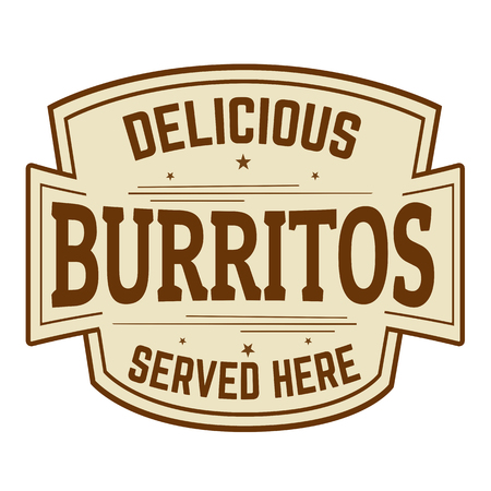 served: Delicious burritos served here banner.