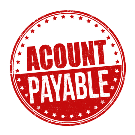 accounts payable: Account payable sign or stamp on white background, vector illustration
