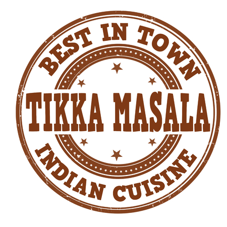 Tikka masala grunge rubber stamp on white background, vector illustration