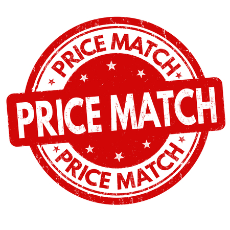 Price match grunge rubber stamp on white background, vector illustration Vetores