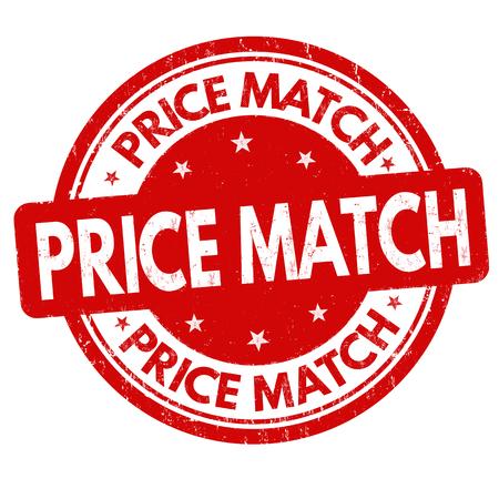 Prix match timbre en caoutchouc grunge sur fond blanc, illustration vectorielle Vecteurs