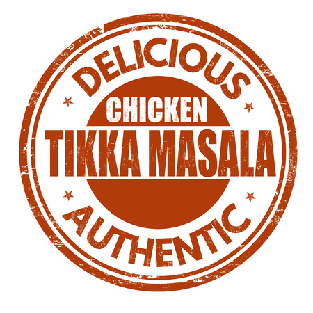 Chicken tikka masala grunge rubber stamp on white background, vector illustration