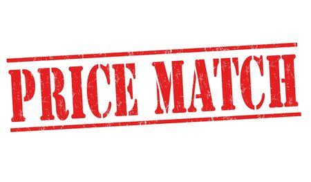 Price match grunge rubber stamp on white background, vector illustration