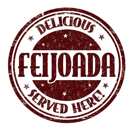 Feijoada sign or stamp on white background, vector illustration Illustration