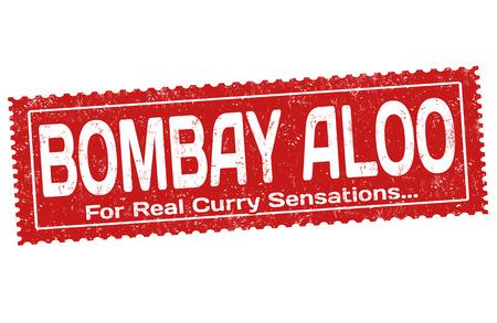 Bombay aloo sign or stamp on white background, vector illustration