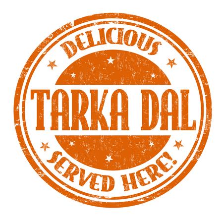 Tarka Dal sign or stamp on white background, vector illustration Illustration