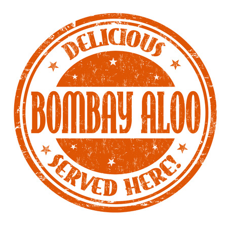 Bombay aloo sign or stamp on white background, vector illustration