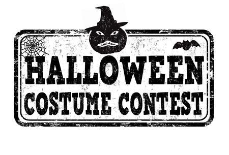 Halloween costume contest grunge rubber stamp on white background, vector illustration Vector Illustration