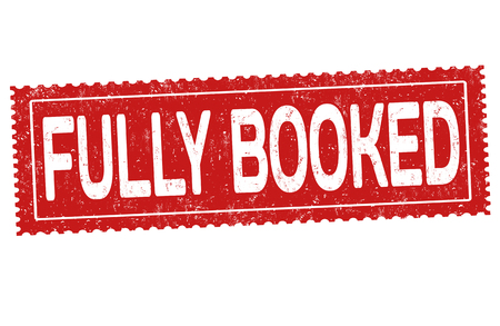 Fully booked grunge rubber stamp