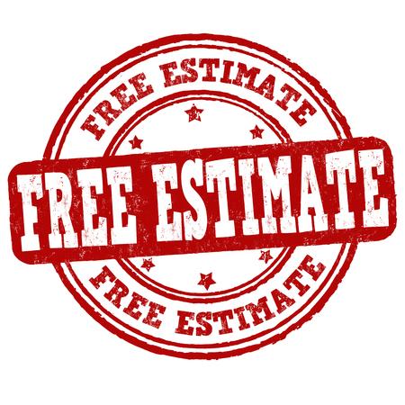 Free estimate grunge rubber stamp