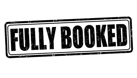 Fully booked grunge rubber stamp Stock Illustratie