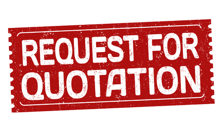 Request for quotation grunge rubber stamp on white background, vector illustration