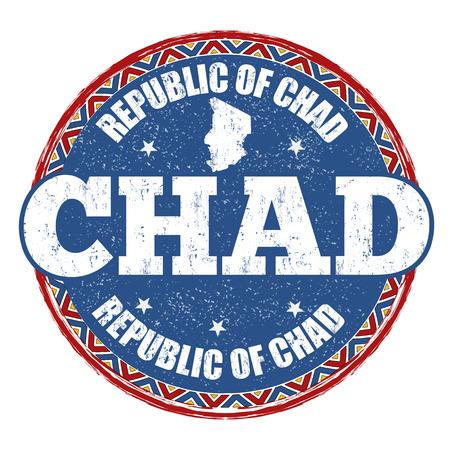Chad grunge rubber stamp on white background, vector illustration Illustration