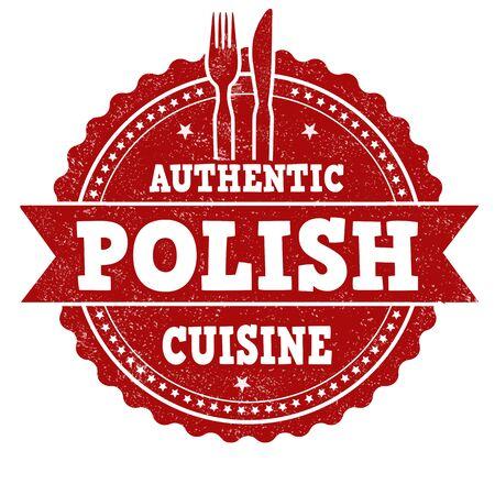 Authentieke Poolse keuken grunge Rubberstempel Stock Illustratie