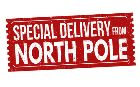 image relating to Free Printable North Pole Special Delivery Printable identified as North Pole Stamp Inventory Visuals And Photos - 123RF