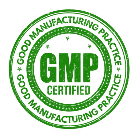 Good Manufacturing Practice ( GMP ) grunge rubber stamp on white background, vector illustration Vettoriali