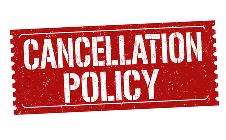 Cancellation policy grunge rubber stamp