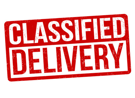 Classified delivery grunge rubber stamp
