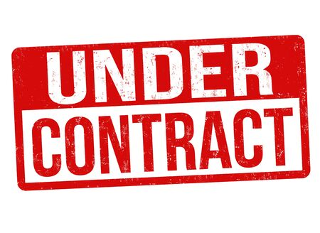 Under contract grunge rubber stamp vector illustration.