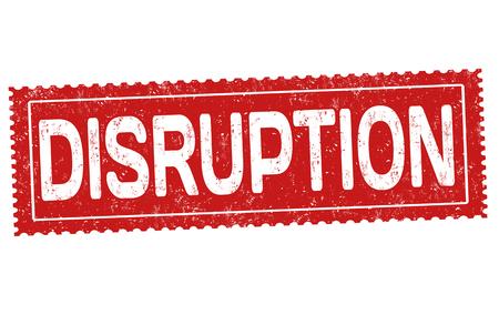 Disruption grunge rubber stamp vector illustration.