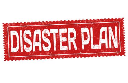 Disaster plan grunge rubber stamp on white background, vector illustration Illustration