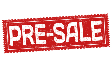 Pre-sale grunge rubber stamp on white background, vector illustration