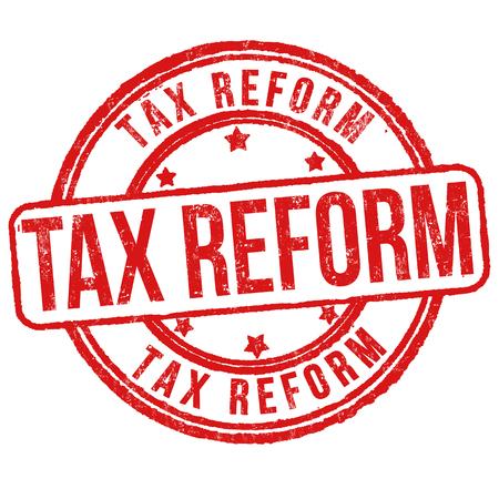 Tax reform grunge rubber stamp on white background, vector illustration 向量圖像