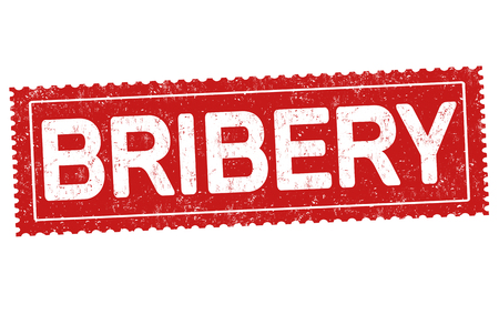 Bribery grunge rubber stamp on white background, vector illustration