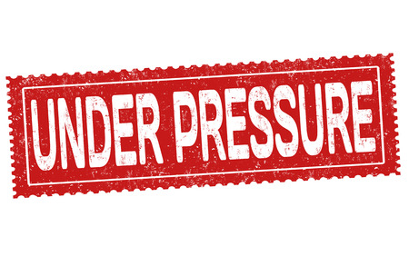 Under pressure grunge rubber stamp on white background, vector illustration  イラスト・ベクター素材