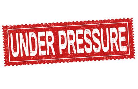 Under pressure grunge rubber stamp on white background, vector illustration 向量圖像