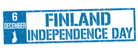 Finland independence day grunge rubber stamp on white background, vector illustration