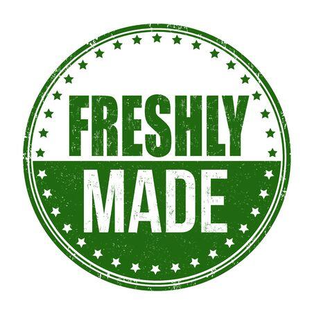 Freshly made grunge rubber stamp on white background, vector illustration