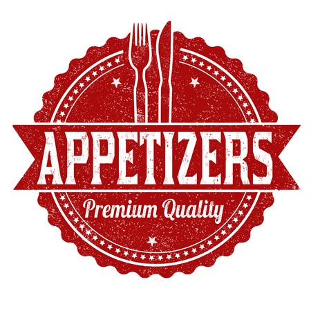 Appetizers grunge rubber stamp on white background, vector illustration. Illustration