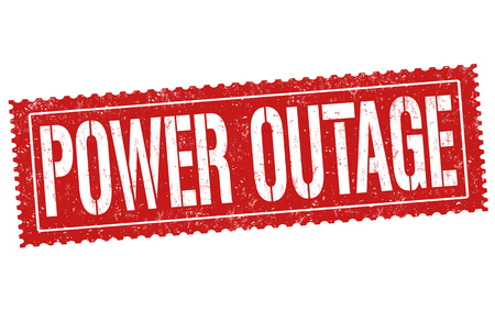 Power outage grunge rubber stamp on white background, vector illustration