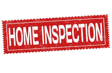 Home inspection grunge rubber stamp on white background, vector illustration