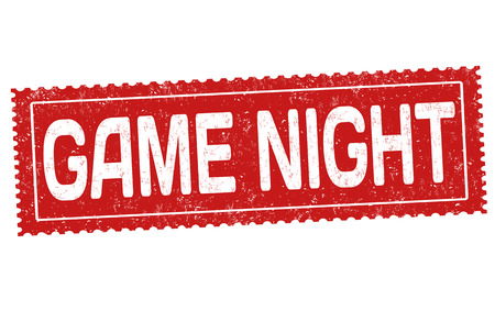Game night grunge rubber stamp on white background, vector illustration.