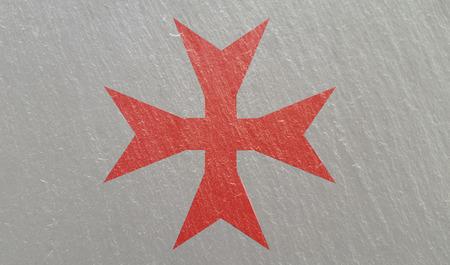 Ritter Templar Kreuz auf Stein Hintergrundtextur Standard-Bild - 92023448