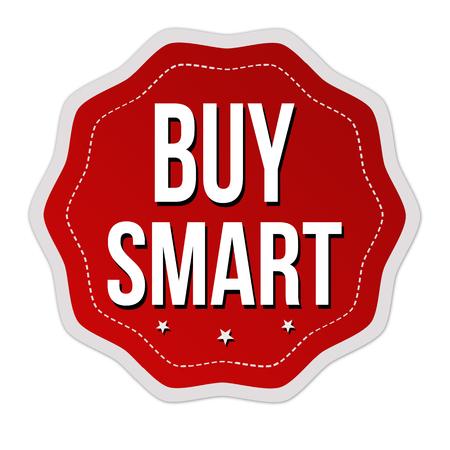 Buy smart  label or sticker on white background, vector illustration